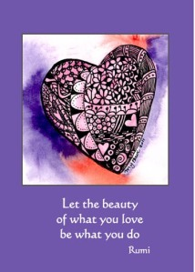 Love What You Do 5X7 Greeting Card