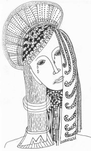 Black and white line Drawing micron pen